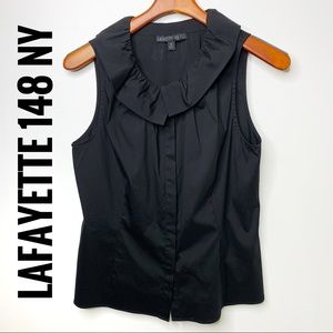 LAFAYETTE 148 New York Black Sleeveless Blouse 10